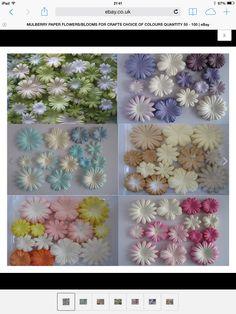 Paper flowers ebay