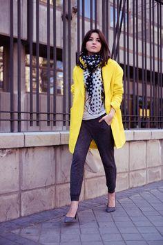 yellow coat | Lovely Pepa by Alexandra
