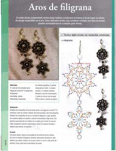 My Crochet , Mis Tejidos by Luna: Ascesorios... Beautiful dangle earrings!!