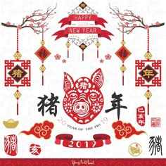 Year go the Monkey Design Collection ( ) : Year go the Monkey Design Collection Chinese New Year. Translation of Chinese Calligraphy main: Monkey and Chinese New Year 2016, Chinese New Year Design, Chinese New Year Crafts, Chinese New Year Decorations, New Years Decorations, Year Of The Monkey, Year Of The Pig, New Year Calligraphy, New Year Clipart