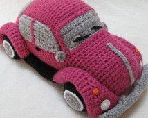 Volkswagen escarabajo VW amigurumi inspirado error coche patrón de ganchillo PDF