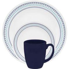 "#Corelle ""Folk Stitch"" @ walmart.com #corelledining #dinnerware"