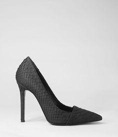 Damen Kara Python Heel (Black) | ALLSAINTS.com