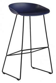 Le Tabouret Haut About a Stool par HAY - réf. AAS38 - piétement acier, assise en polypropylène - déco et design