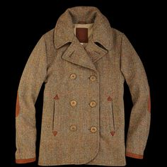 Golden Bear Harris Tweed Peacoat From UNIONMADE