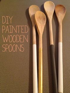 gold painted wooden spoons coming to my kitchen soon