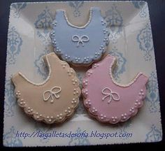 Baby Girl Cookies, Baby Shower Cookies, Galletas Cookies, Sugar Cookies, Meringue, Biscuits, Cookie Ideas, Decorated Cookies, Royal Icing
