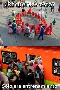 El metro en México jajajajaj