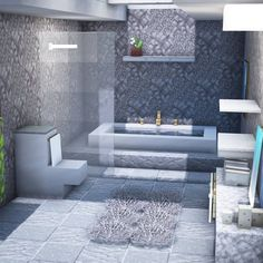 Minecraft Bauwerke, Minecraft Villa, Architecture Minecraft, Modern Minecraft Houses, Minecraft House Plans, Minecraft House Tutorials, Minecraft Mansion, Minecraft Interior Design, Minecraft House Designs