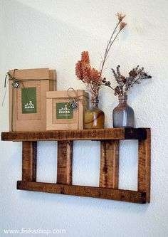 We used an old pallet to make small shelves for our workshop's showroom. #fisika, #soap, #pallet