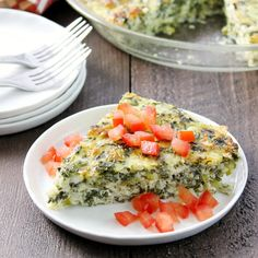 This Crustless Spinach Quiche makes an easy weeknight meal solution!