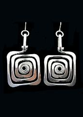 Spiral Square Earrings