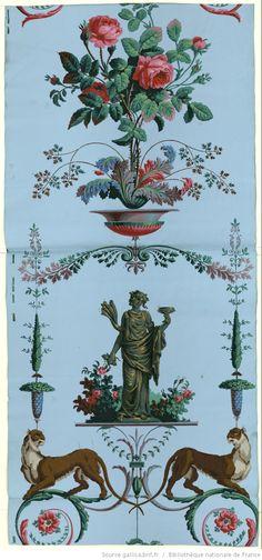 Manufacture Jacquemart et Bénard papier peint - 1799