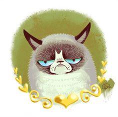 Grumpy Cat -portrait