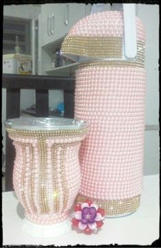 Cesta De Crochet De Madera 4x base 10cm X 10cm
