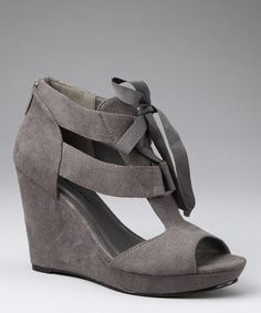 Take a look at this Gray Gee Wedge by Michael Antonio on #zulily today! Great deal!