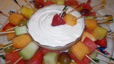 Marshmellow fluff & Cool Whip Fruit Dip
