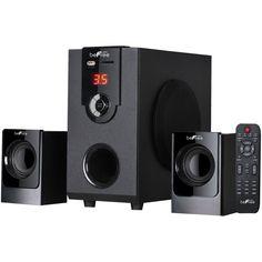 beFree Sound - Powered Wireless Speaker System (Pair) - Black