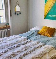 11 Romantic Bedroom Ideas from Morocco – Moroccanzest Moroccan Wall Art, Moroccan Bedroom, Moroccan Interiors, Moroccan Decor, Moroccan Wedding Blanket, Interior Design Inspiration, Design Ideas, Bedroom Decor, Bedroom Ideas
