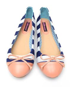 Dollhouse - Koni Striped Ballet Flats...only $24