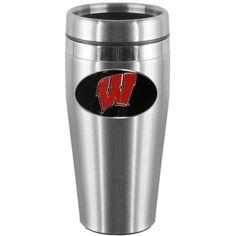 Siskiyou Gifts NCAA Travel Mug NCAA Team: Wisconsin Badgers