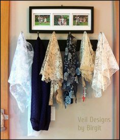 The question of the day in our Catholic Women's Veiling Devotion group was, 'how many veils do you have?'. Here's my answer in a photo. +++check out the veils for sale at Veil Designs by Birgit +++
