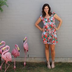 Wearing an old Sacha Drake dress with boots for everyday style today