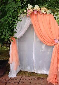 ЦЕРЕМОНИЯ В ПЕРСИКОВОМ - арка,бракосочетание,выездная регистрация,выездная церемония