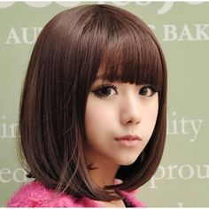Are you tired of having the same old look? Perhaps it's about time you change things up with our stylish and sexy short Kawaii wig. This beautiful piece features bangs and a full bob of synthetic hair