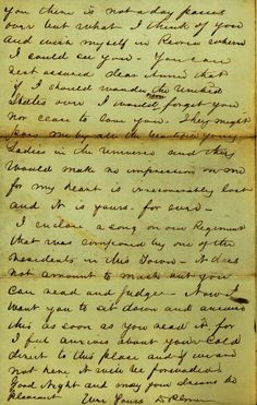 great Civil War love letter to his gal ...