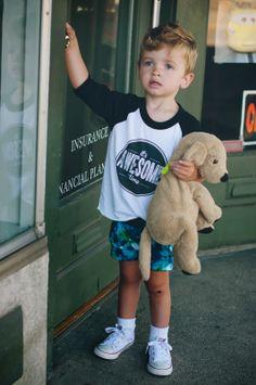 Baby / Kid Shorts Blue Lagoon #caraloren