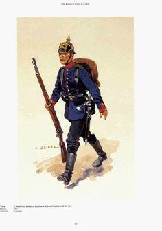 "German; 114th (6th Baden) Infantry ""Emperor Frederick III"" Private c.1900. Raised 1867. Home Depot; Konstanz"