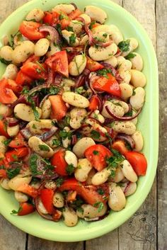 salatka z fasoli bialej Healthy Salads, Healthy Eating, Healthy Recipes, Salad Bar, Food Salad, Bean Salad, I Foods, Pasta Salad, Salad Recipes