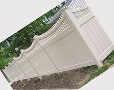 vinyl white fencing | White vinyl fence: