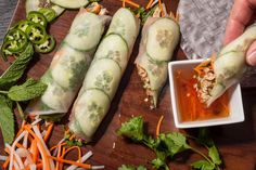 Best breadless sandwich recipes: Rice paper banh mi with five-spice chicken