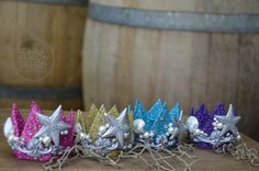 Set of 12 Childs petite Mermaid Crowns party favors. by Scarlet  Harlow
