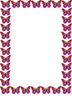 Pink Butterfly Border Frame Clipart - Free to use Clip Art Resource Printable Border, Printable Frames, Free Printable, Printable Butterfly, Printable Labels, Christmas Toilet Paper, Boarders And Frames, Page Borders Design, Art Drawings For Kids