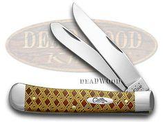 CASE XX Chestnut Bone Celtic Maze 1/500 Trapper Pocket Knife Knives