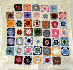 Custom Granny Square Baby Blanket-  Hand Crocheted- Customizable- Crochet Afghan- Colorful Baby Decor- Unique Baby Gift