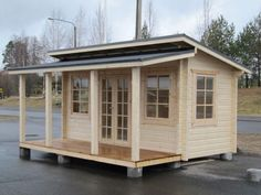 Kesäkeittiö Back Garden Design, Studio Shed, Small Sheds, Backyard Studio, Pool Cabana, She Sheds, Log Homes, Play Houses, Tiny House