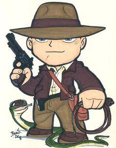 Chibi-Indiana Jones. by hedbonstudios.deviantart.com on @deviantART