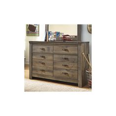 Signature Design by Ashley 8 Drawer Dresser with Mirror
