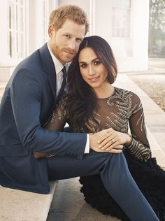 Harry and Meghan release their official engagement photos • Meghan Markle Style