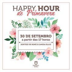 Venha para o nosso Happy Hour de Primavera 😎 Dia 30 de setembro a partir das 17 horas, aqui na Radical Chic ;) Bebida, comida e sorteios para você, cliente e amigo! #RadicalChic #Primavera #HappyHour #Sorteio #Bebida #comida #Ipatinga #ValeDoAço