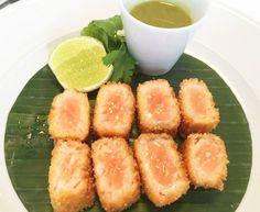 « Tonkatsu » de saumon mi-cuit croustillant, sauce sriracha à dégustez au restaurant le River Café à Issy les Moulineaux. #lerivercafe #rivercafeparis #resto #restaurantparis #issy #exotique #tonkatsu