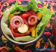 Carole's Chatter: Lettuce Cup Salads Salad Works, Monster Food, Pepper Relish, Classic Salad, Lettuce Cups, Red Peppers, Salad Dressing, Salad Recipes, Cucumber