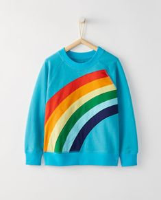 Rainbow Sweatshirt In French Terry