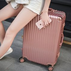 Rose gold aluminum frame trolley suitcase caster 24 inch 26 children travel luggage board chassis Male 20 Hard Case