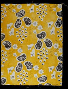 Grapes, furnishing fabric   Designed by Duncan Grant (1885-1978) for Allan Wallton Textiles   Printed linen   London, England