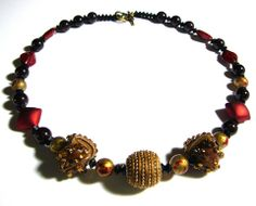 #320 Leather and Carnelian Necklace - Our Creative Side
